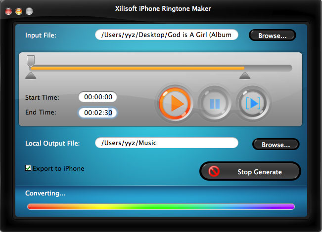 Mac iPhone RingTone Maker
